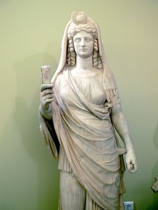 Isis Holding a Sistrum