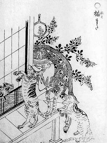 Cat Japan Nekomata Toriyama Sekien 1712-88