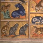 Adam Names the Animals Aberdeen Bestiary Folio 005r Detail 12th Century Source: Aberdeen Library
