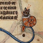 Cat in a Snail Shell 1400's Maastricht Book of Hours Stowe17f.185 Source: BritishLibrary