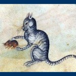 Cat and Mouse Luttrell Psalter 1320 Source: British Library