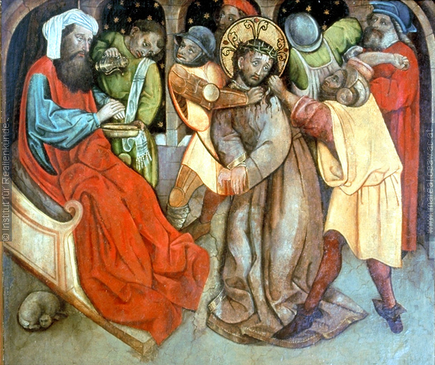 Pilate Washes his Hands, 1475-1500 Institute Reallen Kunde, history of the cat