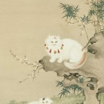 Cats and Bamboo Shen Chen-Lin Ching Dynasty 1644-1912 National Palace Museum, cat in middle ages art