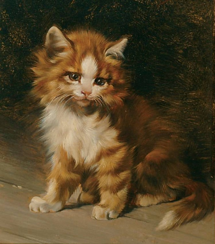 Kitten Julius Adam Private Collection kittens in art