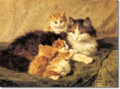 Contentment Henriette Ronner-Knip 1900 cats in art - 19th century, cats in art