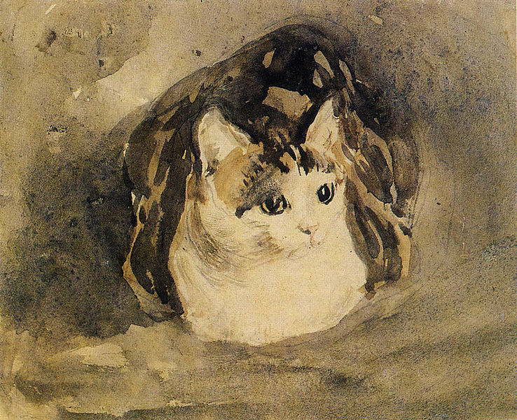 Cat Gwen John Watercolor on Paper 1904-08
