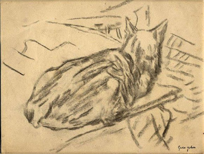 Black Cat Sitting in a Wick Gwen John