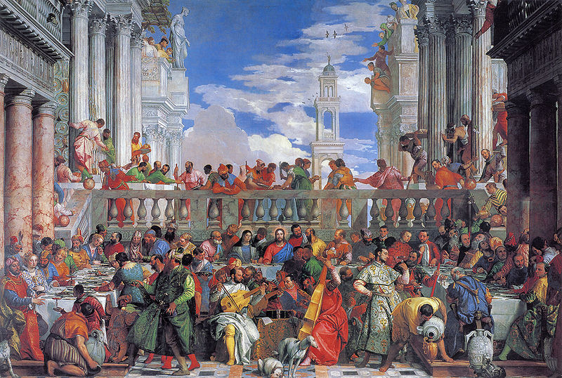 Wedding at Cana Paolo Veronese 1563 Musee du Louvre, cat in Mannerist and religious paintings