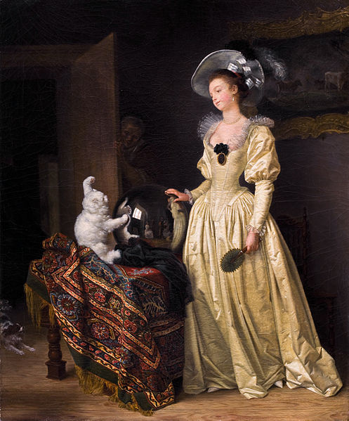 Le Chat Angora Marguerite Gérard and Jean Honore Fragonard 1780 Bernheimer Fine Old Masters Kunsthandel