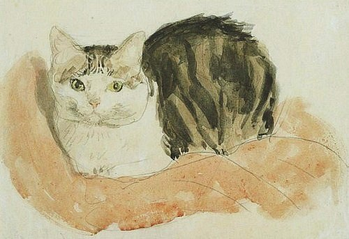 Wide Awake Tortoiseshell Cat Gwen John