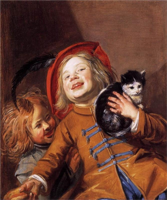 Laughing Children with a Cat Oil on canvas Judith Leyster 1629 Private Collection