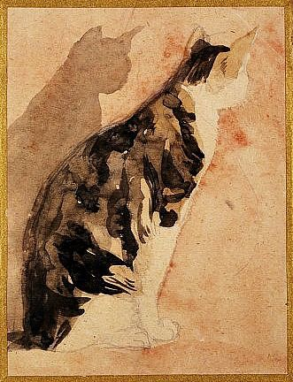 Seated Cat Gwen John c 1920