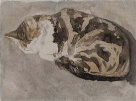 Sleeping Tortoiseshell Cat Gwen John