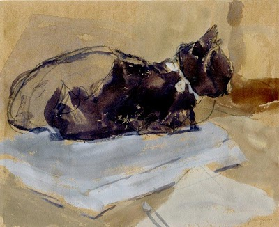 Cat with White Ribbon Gwen John