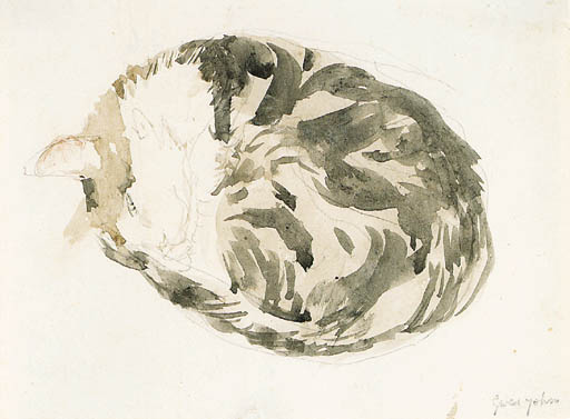 Study of Sleeping Cat Gwen John