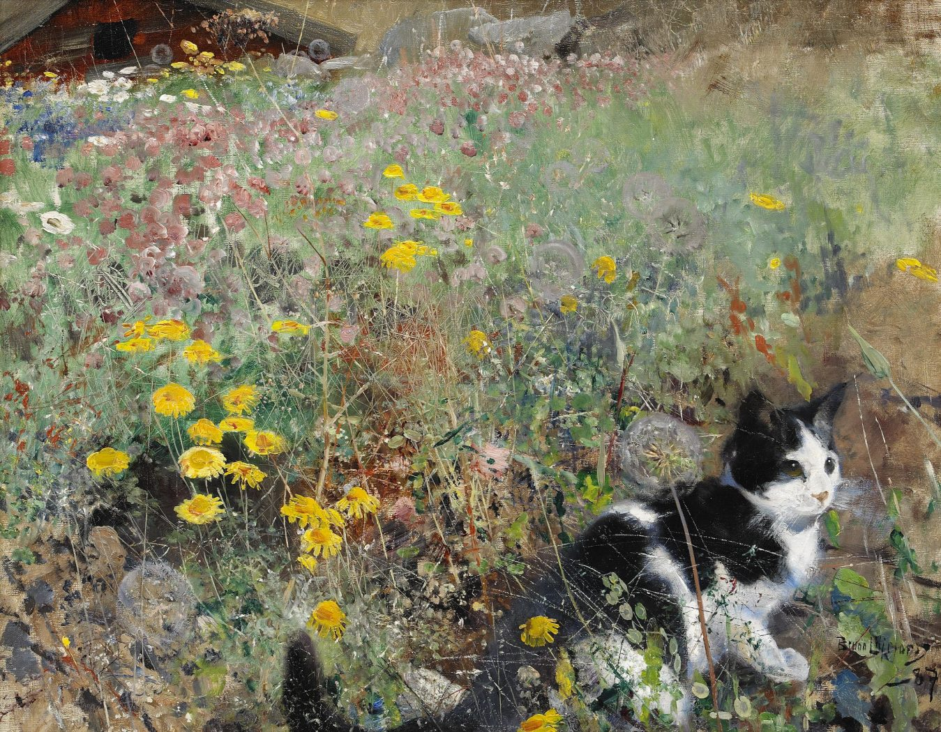 http://www.thegreatcat.org/wp-content/uploads/2013/09/Bruno-Liljefors-Cat-on-flowerbed-1887-wiki.jpg