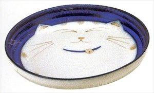 Smiling-Blue-Cat-Porcelain-Deep-Dish-
