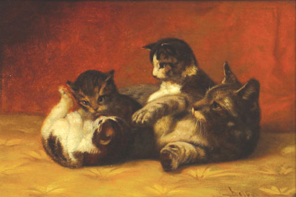 Mother Cat and Kittens Private Collection