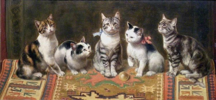 Cat Family Carl Reichert Private Collection