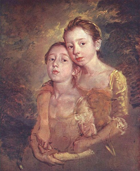 The Artist's Daughters with a Cat 1759 Thomas Gainsborough National Gallery, London