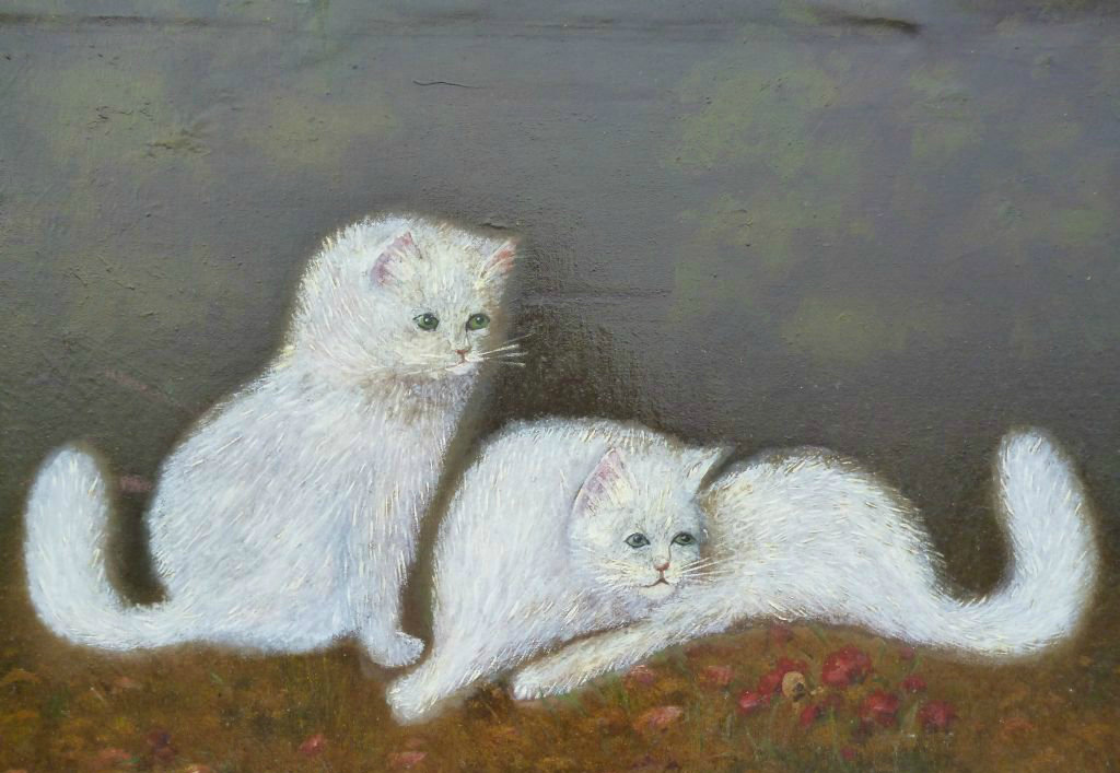 cats in art, persian cats in art
