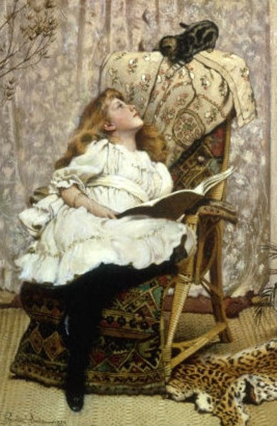 A Rival Attraction Charles Burton Barber, cats in art
