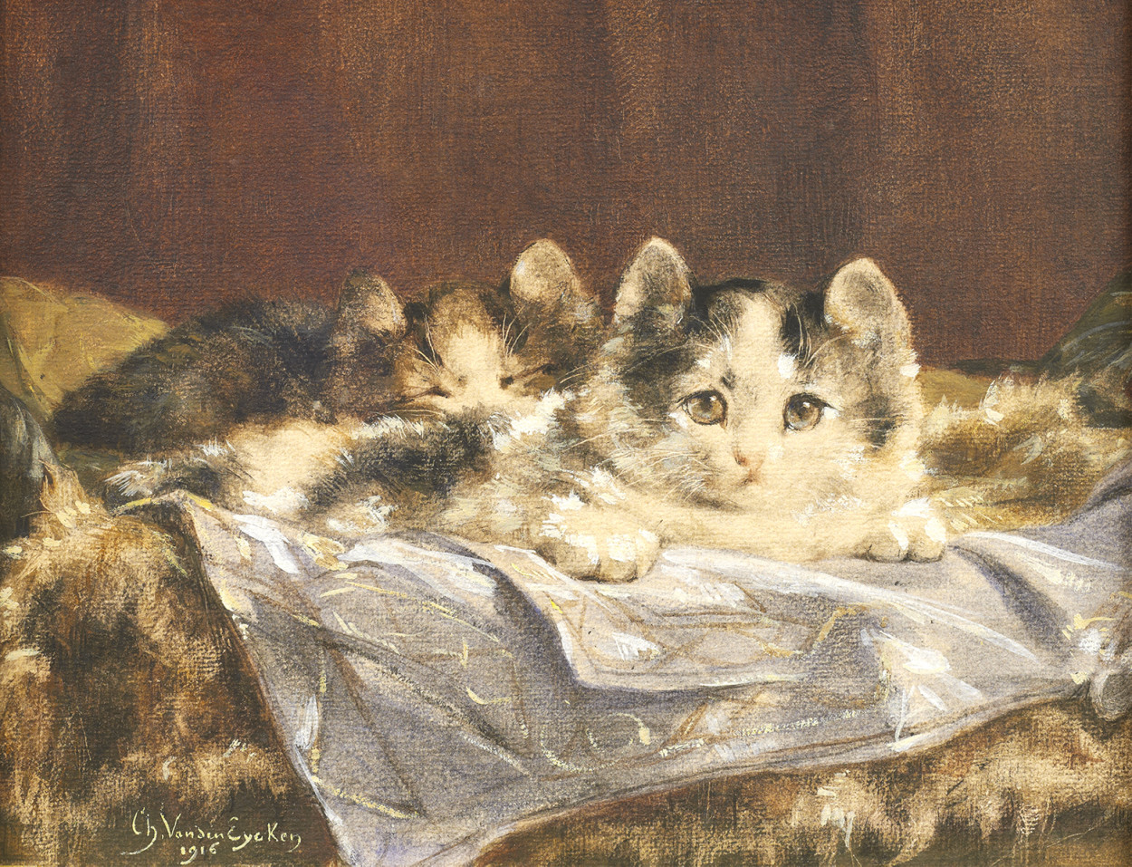 Charles-Van_den-Eycken_Les-Chatons private collection