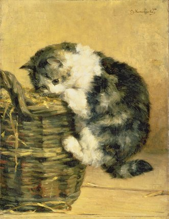 Kitten in a Basket Private Collection