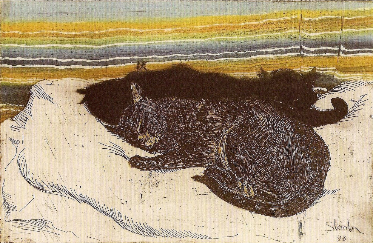 Deux Chats Theophile Steinlen cats in art