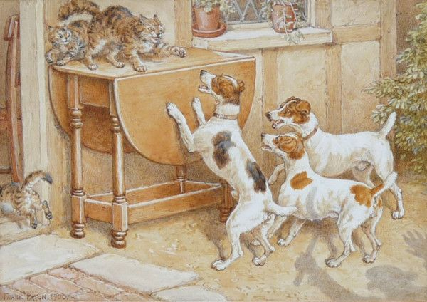Coming Events Cast Their Shadow FRANK PATON (1856-1909)