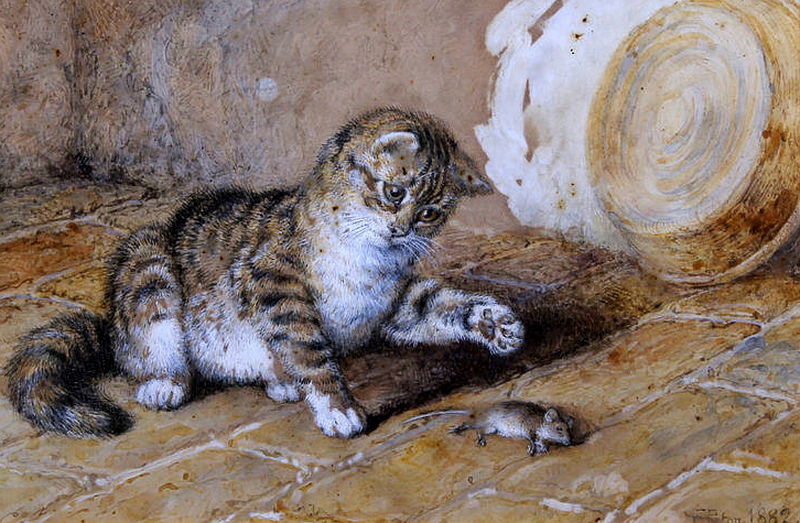 Dead Mouse Frank Paton private collection 1882