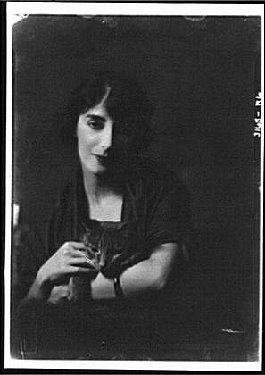 Mrs. Erraguriz with Buzzer the Cat 1919