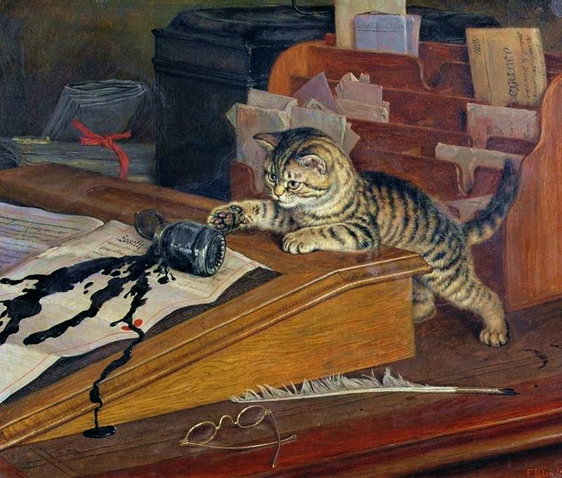 Spilt Ink Frank Paton private collection cats in paintings