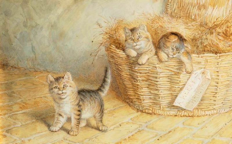The Christmas Gift Frank Paton private collection
