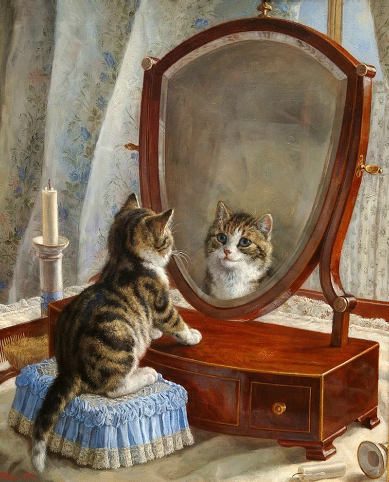 Frank Paton cats in art