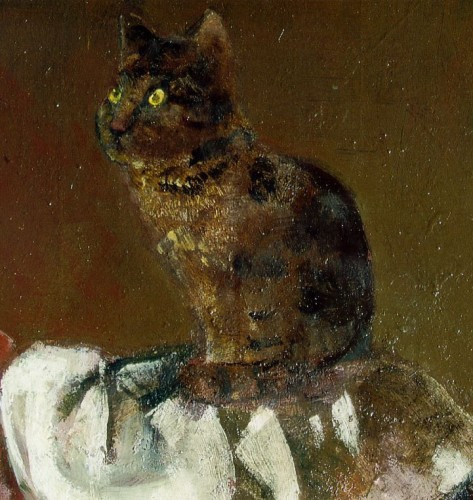 Le Chat au Miroir III Detail of Cat Balthus