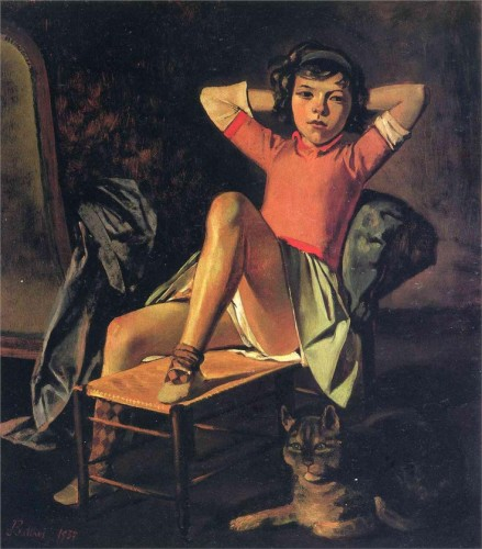 Girl and Cat 1937 Balthus and Cats