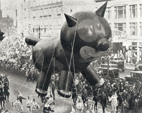 Vintage Macy's Thanksgiving Day Parade felix the cat cat in 20th century history
