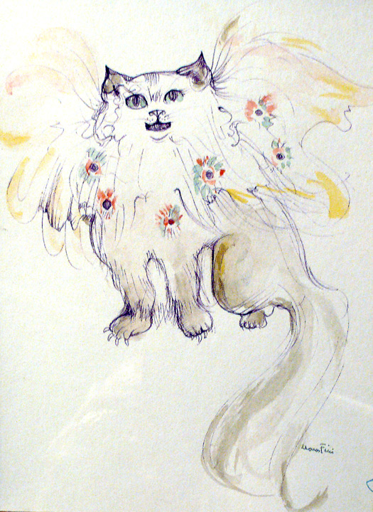 Chat au fleurs (Cat and Flowers)