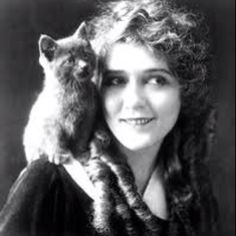 Mary Pickford and Cat cats in film