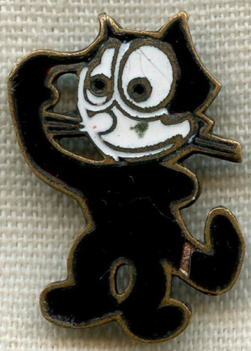 WWII Felix the Cat Badge 9ª Squadriglia-25º Stormo da Bombardamento (Italian 9th BS, 25th BG)