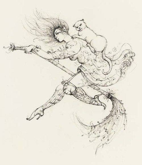 Witch on a Broomstick Leonor Fini