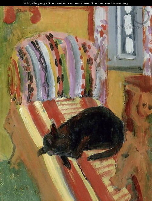 The Living Room (Detail) 1920 Kirchner's cats