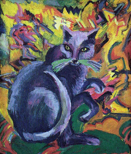Ernst Kirchner, cats in art, Bobby, Boby