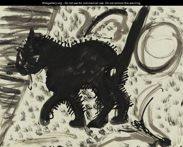 Ernst Ludwig Kirchner, Katze, cats in art