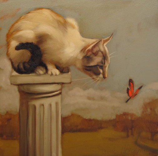 Eye on Butterfly Diane Hoeptner, cats in art