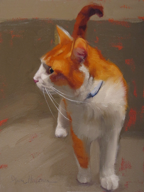 Tangy, cat paintings