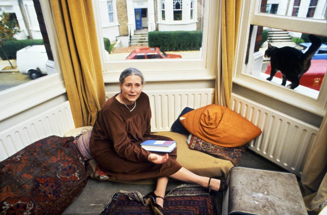 Doris Lessing and Cat 1984