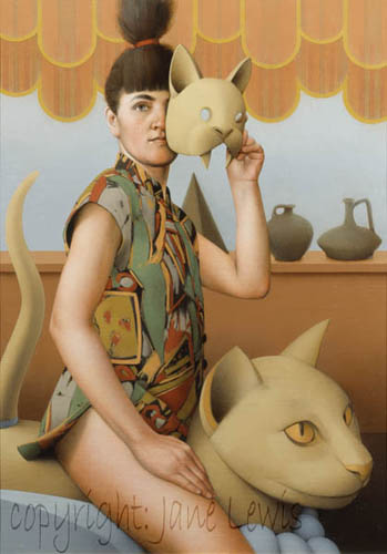 Cat Mask Jane Lewis cats in contemporary art, cats in art