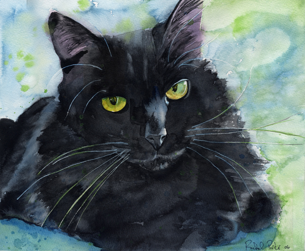 Sadie Sweet, black cats in art